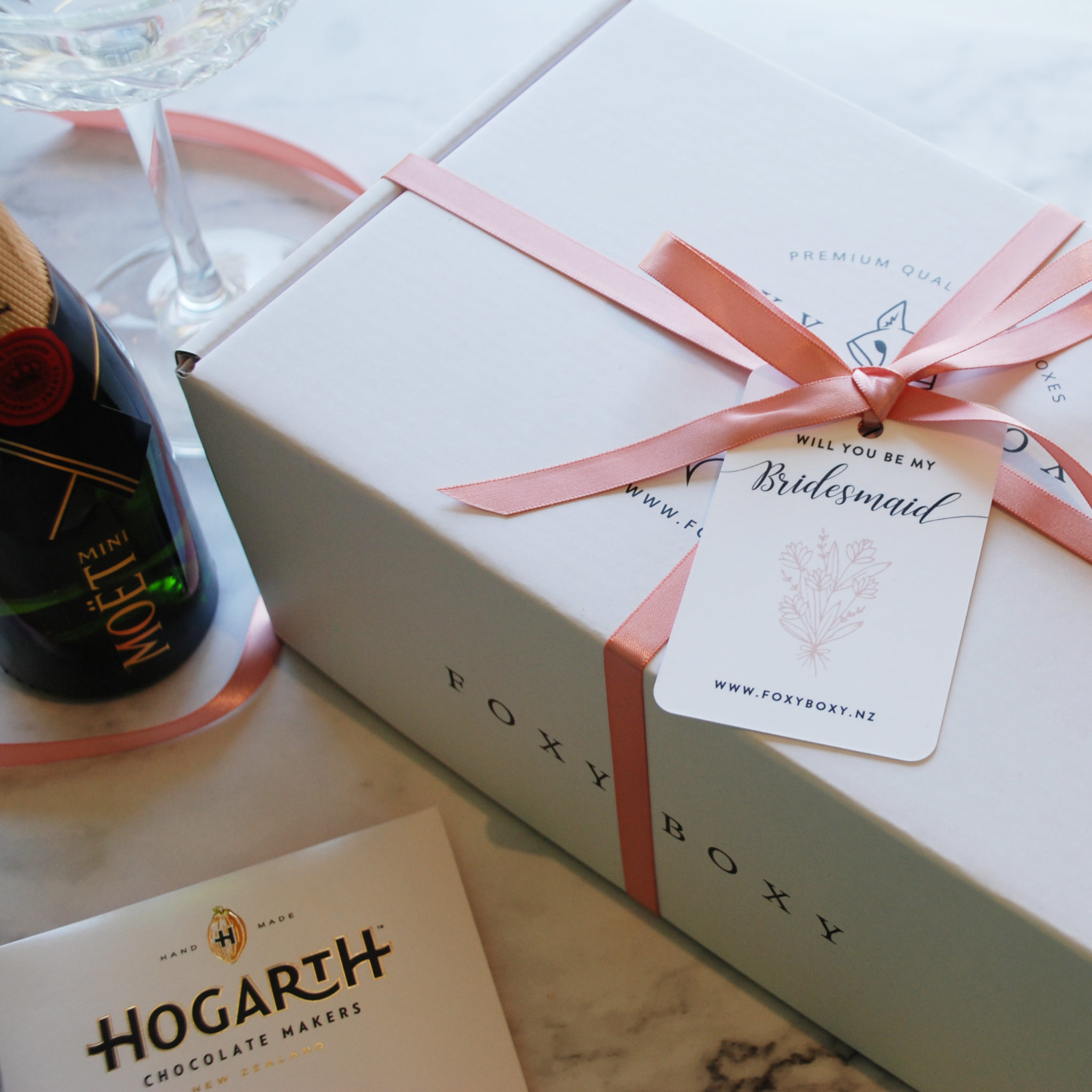 Bridesmaid Gift Box Olivia Foxy Boxy Quality Nz Gift Boxes